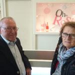 Monsieur et Madame Marchadier en visite à Reims